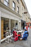 People costumed in the streets of Bath for the Jane Austen festival Royalty Free Stock Image