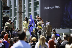 People In Costumes Stock Images