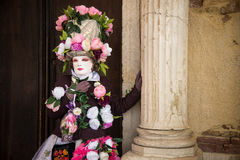 People in costumes and masks on Carnival in Venice Stock Image