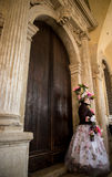 People in costumes and masks on Carnival in Venice Stock Photography