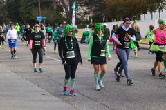 People in costume participating in St Patricks Day Run in Tulsa Oklahoma USA 3 17 2018. People in costumes participate in St Patricks Day Run in Tulsa Oklahoma Royalty Free Stock Photography