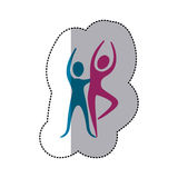 People couple dancing icon Stock Photos