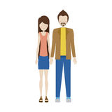People couple together icon. Image,  illustration Stock Photography