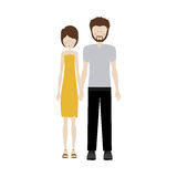 People couple together icon. Image,  illustration Royalty Free Stock Photos