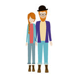 People couple together icon. Image,  illustration Royalty Free Stock Image