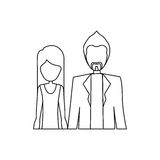 People couple together icon. Image,  illustration Royalty Free Stock Photography
