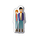 People couple together icon. Image,  illustration Stock Photos