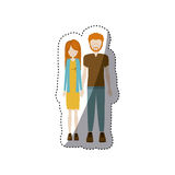 People couple together icon. Image,  illustration Stock Images