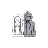 People couple together icon. Image,  illustration Stock Image