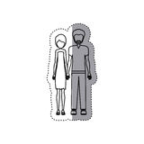 People couple together icon. Image,  illustration Royalty Free Stock Images
