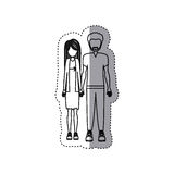 People couple together icon. Image,  illustration Royalty Free Stock Photo
