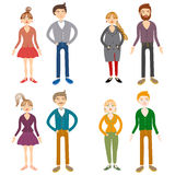People couples, man and woman family, male  female Royalty Free Stock Photos
