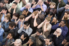 People Covering Their Ears Stock Photos