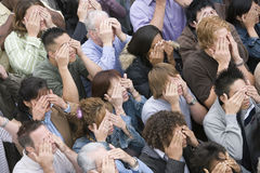 People Covering Their Eyes Royalty Free Stock Photos