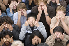 People Covering Their Eyes Stock Photography