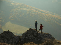 People in the Crimea mountain Stock Photos