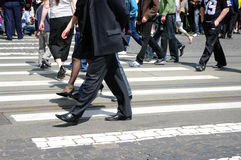 People crossing  in a city Stock Photos