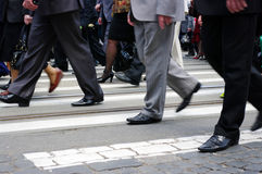 People crossing in a city Stock Images