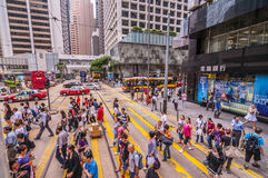 People crossing pedestrian lane Royalty Free Stock Images