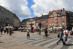 People crossing the road, Copenhagen Stock Image
