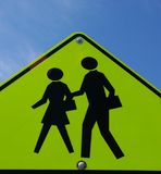 People Crossing Sign stock photography