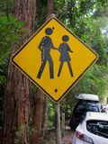 People Crossing sign Stock Images