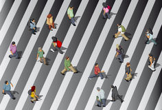 People crossing street Royalty Free Stock Photography