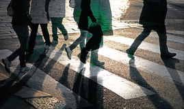 People crossing street Stock Image