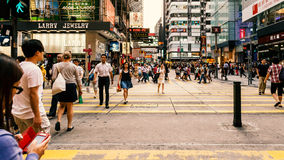 People crossing Street Stock Photography