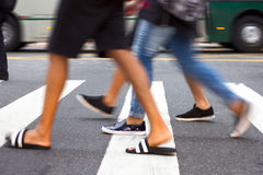 People crossing the streets royalty free stock photo
