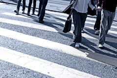 People Crossing The Street Stock Images
