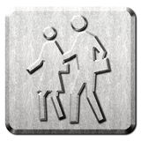 People Crosswalk Sign Royalty Free Stock Photography