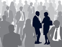 People in crowd royalty free illustration
