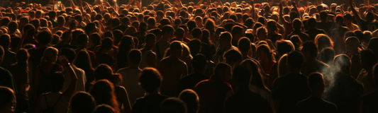 People crowd. Crowd on the rock concert. Many people on concert - crowd Stock Images