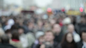People crowd in blur Royalty Free Stock Photo
