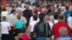 People crowd in blur timelapse stock footage