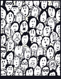People crowd -cartoon characters Stock Images