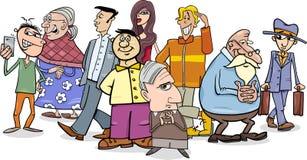 People crowd cartoon Royalty Free Stock Image