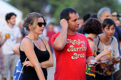 People from the crowd (fans) watch a concert at FIB  Festival Stock Photos