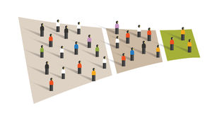 People crowd funnel flow conversion group graphic sampling Royalty Free Stock Photos