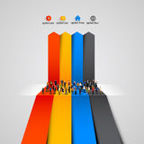 People crowd on the graph. Vector illustration Royalty Free Stock Photography
