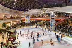 People Crowd Having Fun In Shopping Mall Interior Stock Photo