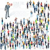 People crowd. Isometric vector abctract. People crowd. Isometric vector background mock up. Men and women, various professions and styles, people diversity vector illustration