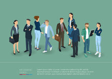 People Crowd. Isometric Vector Presentation And Banner Template. Royalty Free Stock Photography