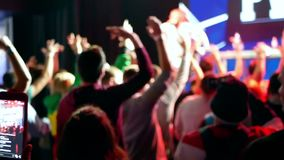 People crowd party concert stock footage