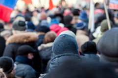 People in the crowd on a protest Stock Images