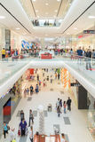 People Crowd Rush In Shopping Luxury Mall Interior Royalty Free Stock Images