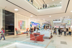People Crowd Rush In Shopping Luxury Mall Interior Royalty Free Stock Photography