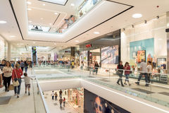 People Crowd Rush In Shopping Luxury Mall Interior Royalty Free Stock Photo