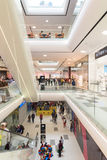 People Crowd Rush In Shopping Luxury Mall Interior Royalty Free Stock Photos
